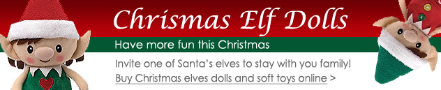 Buy Christmas Elf Dolls and Soft Toys