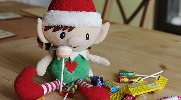 Santa's Elf with Sweet Wrappers