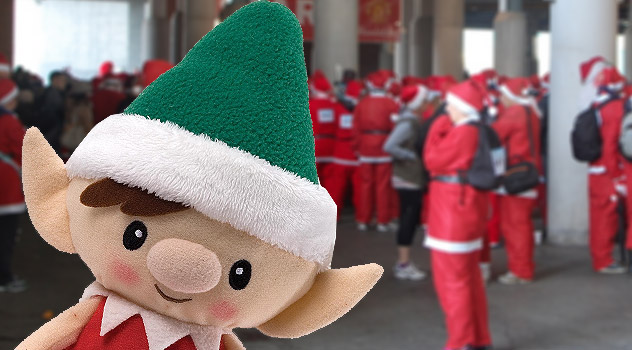 Christmas Elf at the 2012 Santa Run - Manchester United