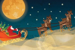 Santa's Sleigh and Reindeer