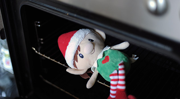 Magic Elf Mischief - Hiding in the Oven