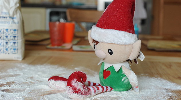 Elf Playing in Flour
