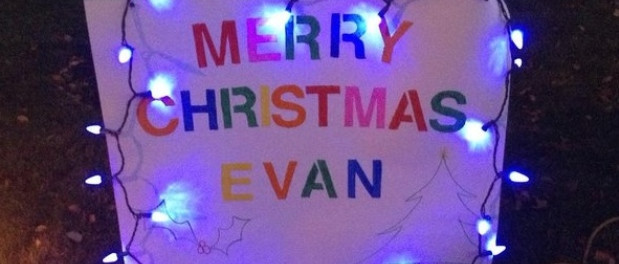 St George Ontario celebrates Christmas early for terminally ill 7 year old Evan Leversage