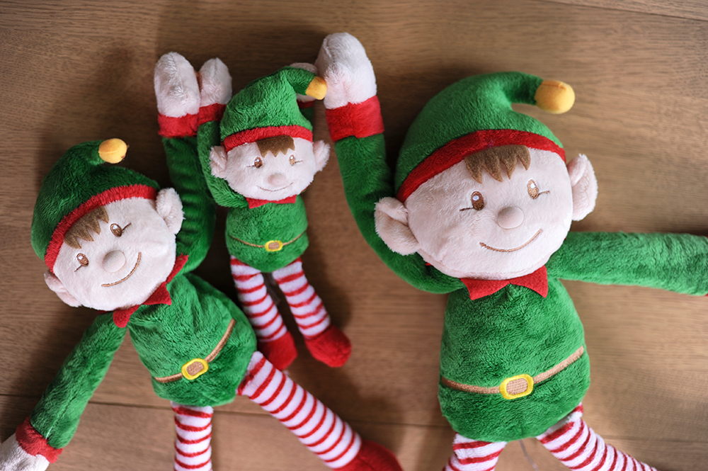 Santa's elves stretched out