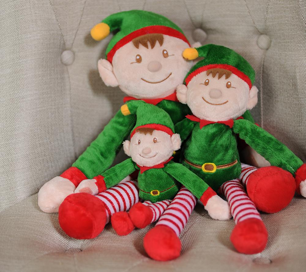 Santa's Elves sat on a chair