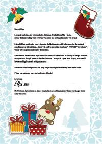 Christmas Elf Goodbye Letter